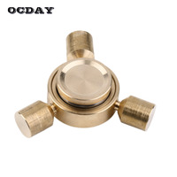 OCDAY Fidget Spinner Tri Fingertip Gyroscope Metal EDC Desk Toys For Autism And ADHD Anti Stress