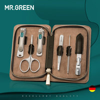MR.GREEN 6 in 1 Nail Clipper Kit With Case Nail Care Set Pedicure Cutters Scissor Tweezers Knife Professional Manicure Set Tools