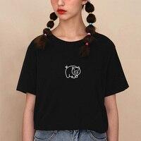 Cute pig print cotton T Shirt for woman Vegan Casual Funny brand Shirt Graphic Tees summer tops Hipster Tumblr drop ship