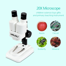 20X LED Binocular Stereo Microscope PCB Solder Tool Insect Plant Watch Students Science Educational Microscope Kids Gift No USB