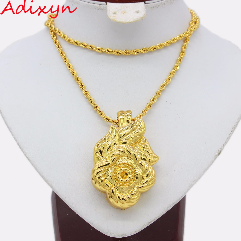 Adixyn New Light Weight Nigerian Pendant Gold Color