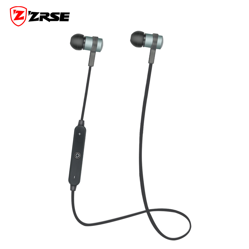 ZRSE Wireless Bluetooth Sport Earphone Noise Cancelling Headphone Metal Earphone bluetooth headset With Microphone for font