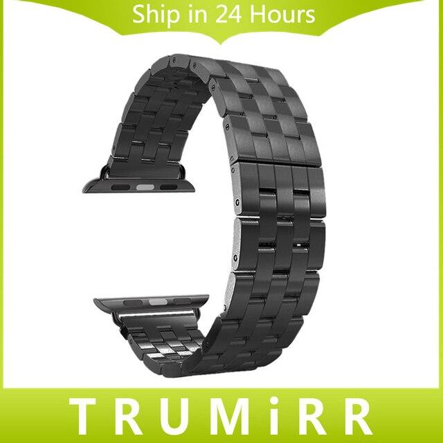 Correa de acero inoxidable 22mm 24mm 5 poiter reemplazo de la venda de la pulsera de 38mm 42mm iwatch apple watch sport edition