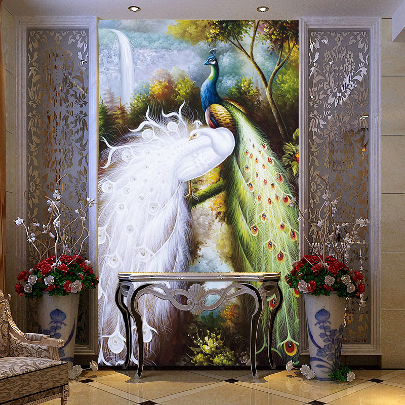 online buy wholesale peacock wall mural from china peacock
