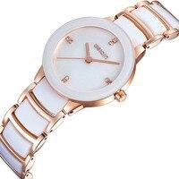 WEIQIN Luxury Brand Dress Watches Women Crystal Rhinestone Rose Gold Watch Lady Fashion Bracelet Wristwatch Relogio