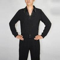 High-end da uomo ballo Latino vestiti nuova camicia a maniche lunghe abbigliamento per adulti vestiti di prestazione del servizio spogliatoio