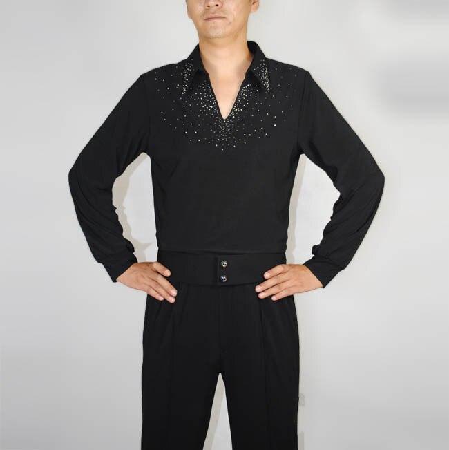 55db9d4411 De gama alta de los hombres Latino trajes de baile nueva camisa de manga  larga ropa de adultos rendimiento del servicio vestidor