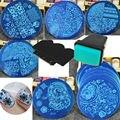 10 Pçs/lote Nail Art Stencils Template Stamping Polonês, Prego Da Placa Da Imagem de Impressão Conjunto Batedor Raspador DIY Manicure Ferramenta