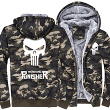 Punisher Skull Army Green Camouflage Casual Brand Hoodie Sweatshirts For Men