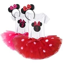 Newborn Kids Baby Girls Beautiful Flower Dress Princess Mini Tutu Dress First 1st Birthday Outfits Toddler Girl Dress 1 year