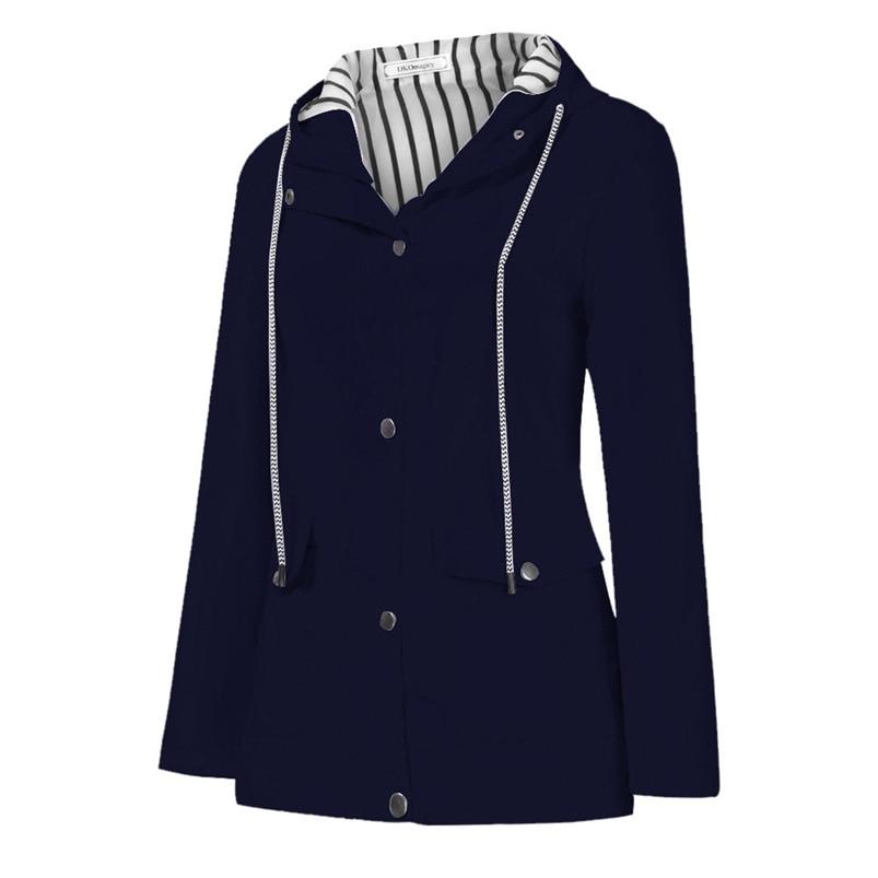 Rain Coat Women Plus Size Coat 2018 Long Sleeve Waterproof Jacket Hooded Raincoat Jacket Women Clothes Warm Coat Girl #O11 (39)