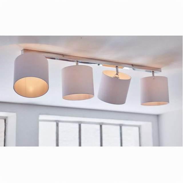 New Design Modern White Shade Lustre LED Ceiling Lights Lamp Fixtures Adjustable Head For Bedroom
