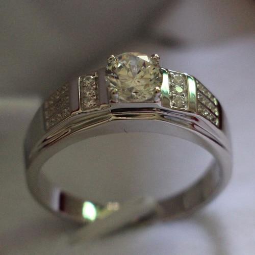 authentic 18k 750 white gold men ring 0 8ct diamond engagement ring for husband gold 18k bridal. Black Bedroom Furniture Sets. Home Design Ideas