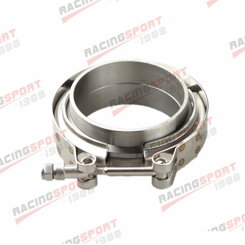 3.5/'/' V-Band Flange /& Clamp Kit for Turbo Exhaust Downpipes Stainless Mild Steel
