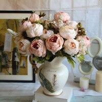 ヨーロッパビッグサイズ6ヘッズ人工牡丹シルクフラワー花束用ホームデコレーション結婚式宮殿皇帝かなりチャーミングHG0187
