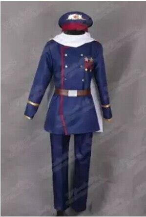 Anime Axis Powers Hetalia APH Soviet Union Russia Ivan Braginsky Cosplay Costume Army Uniform