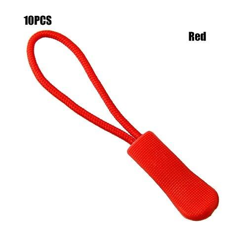10 шт. фиксатор для застежки-молнии, фиксатор для веревочной бирки, сменный зажим, сломанная Пряжка для шитья одежды, дорожные сумки - Цвет: Red