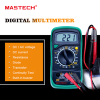 MASTECH MAS830L Mini Handheld LCD Display Digital Multimeter DC Current Tester Backlight Data Hold Continuity Diode