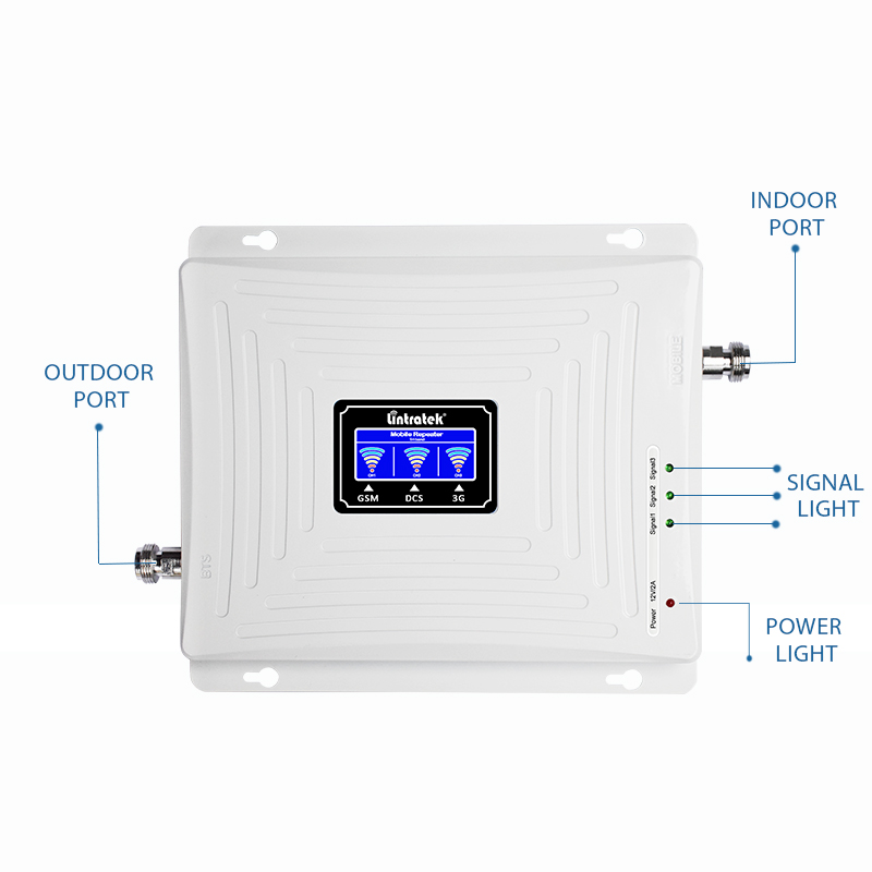 Lintratek 4G Repeater GSM 2G 3G 4G Booster 900 1800 2100 Tri Band Signal Booster GSM 900 1800 3G 2100 Signal Ampli KW20C-GDW