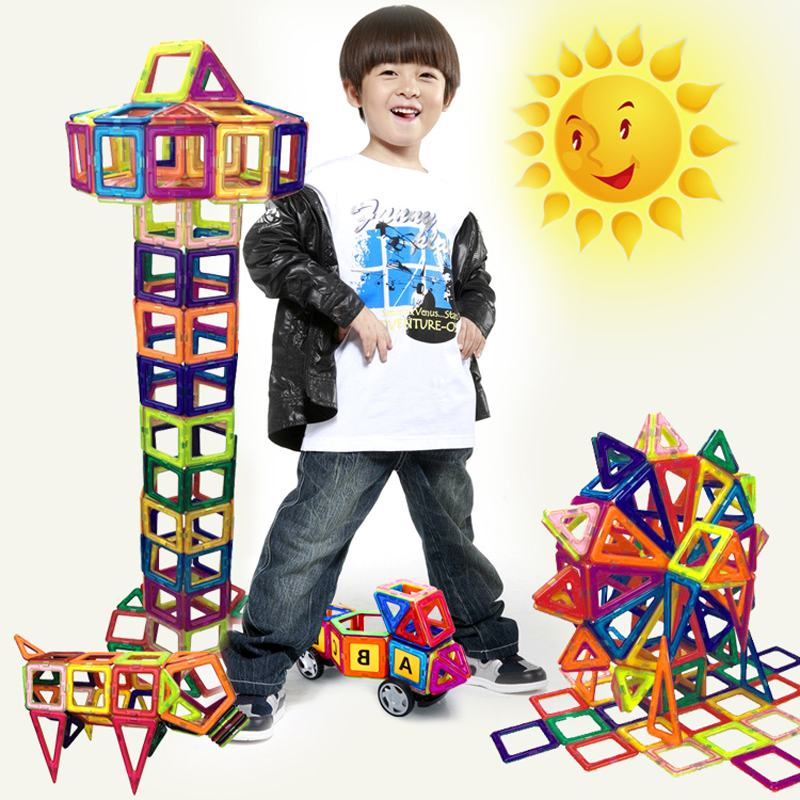 119PCS Magnet Building Blocks Bricks Juguetes Early Educational Magnetic Designer Toy 3D DIY Building Blocks for Children Gift loz gas station diy building bricks blocks toy educational kids gift toy brinquedos juguetes menino