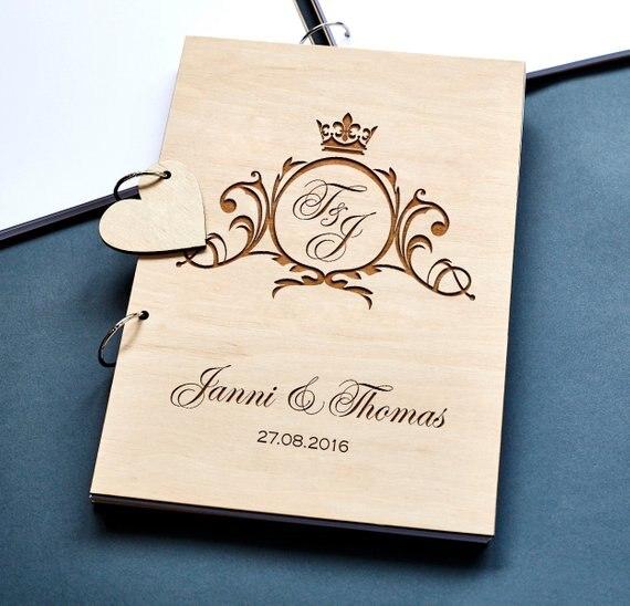 Wedding Memory Book Ideas: Aliexpress.com : Buy Rustic Wedding Guest Book,Initial
