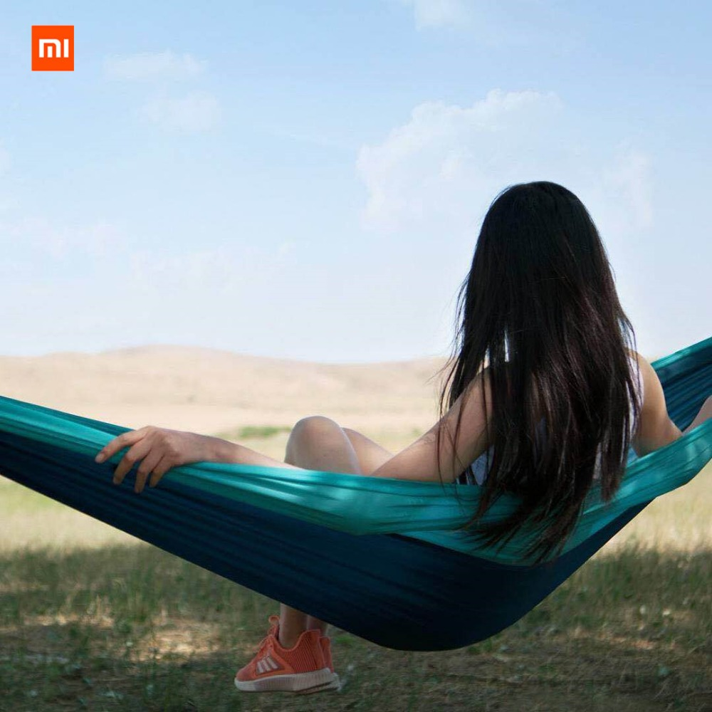 Image 2 - Xiaomi Mijia zaofeng Hammock Swing Bed 1 2 Person Parachute Hammocks Max Load 300KG for Outdoor Camping Swings Parachute cloth-in Smart Remote Control from Consumer Electronics