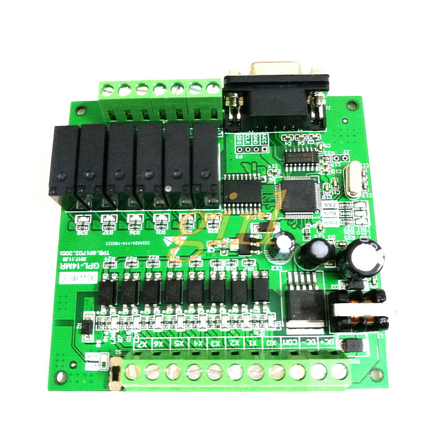 US $15 79 7% OFF|STM32 optocoupler isolation 8 input 6 output relay serial  port large power transistor industrial control development board PLC-in