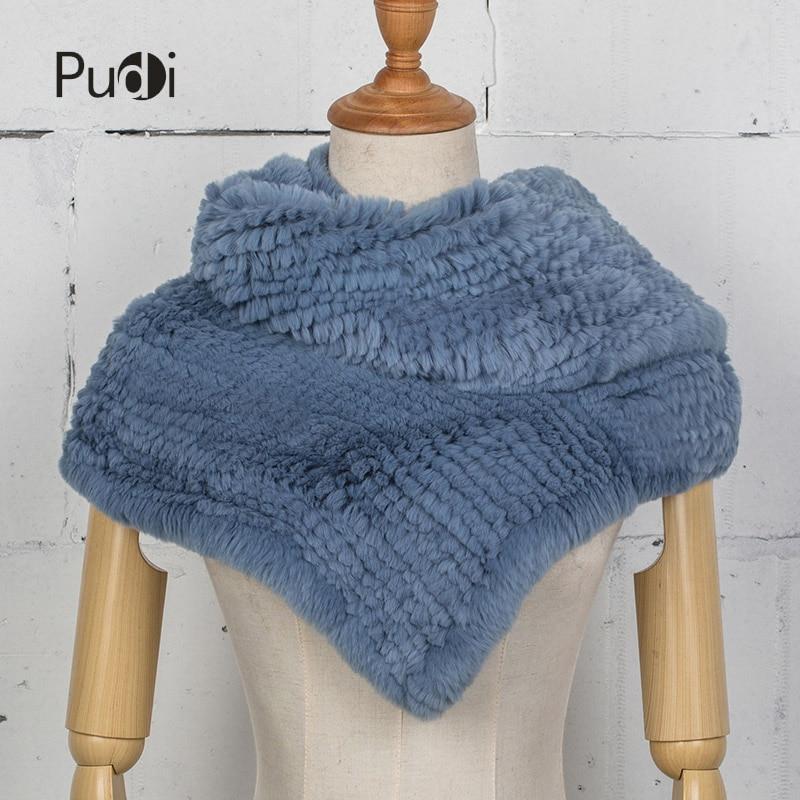 Pudi SF750 rex rabbit fur scarf &shawl women winter new warm real rabbit fur wrap poncho шина viatti vettore invento v 524 195 75 r16 107 105r