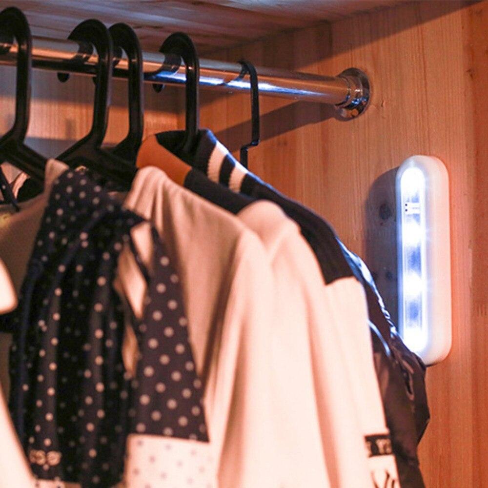 Мини 4 светодио дный ночник сенсорный переключатель освещение умная детская спальня лампа мягкая для шкафа гардероб кладовка 180 градусов вр...