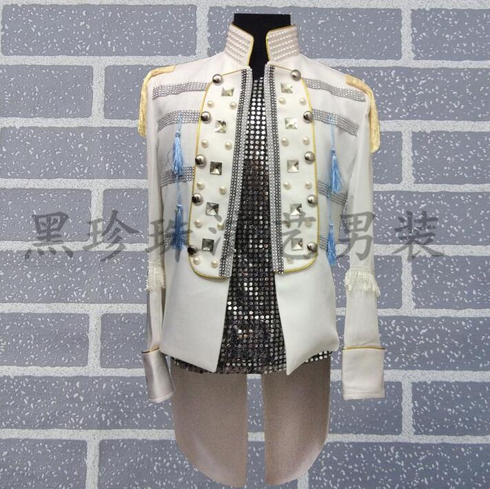 Men Suits Designs Brick Royal Homme Terno Stage Costumes For Singers Mens Blazer Dance Clothes Jacket Men Tuxedo Dress Punk