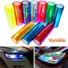 цена на NEW120*30cm Shiny Chameleon Auto Car Styling Headlights Taillights Translucent Film Lights Turned Change Color Car Film Stickers