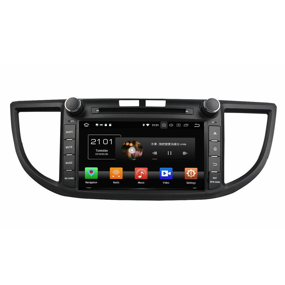 KLYDE 8 1 Din 8 Core Android 8.0 Lecteur DVD de Voiture Pour Honda CRV 2012 1024*600 32 GB Voiture Radio