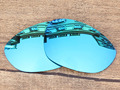 Ice Blue Mirror Polarized Replacement Lenses For X Metal XX Sunglasses Frame 100% UVA & UVB Protection