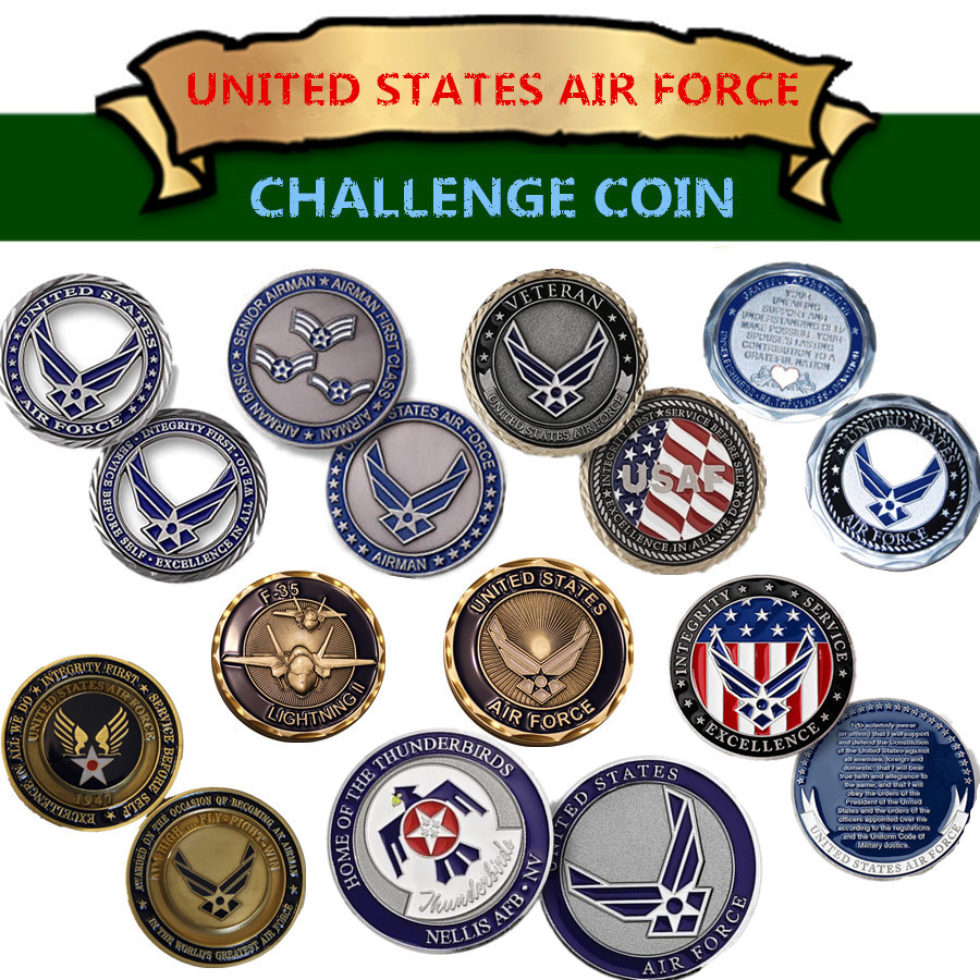 US Military Challenge Coin Series -  United States Air Force Challenge Coin