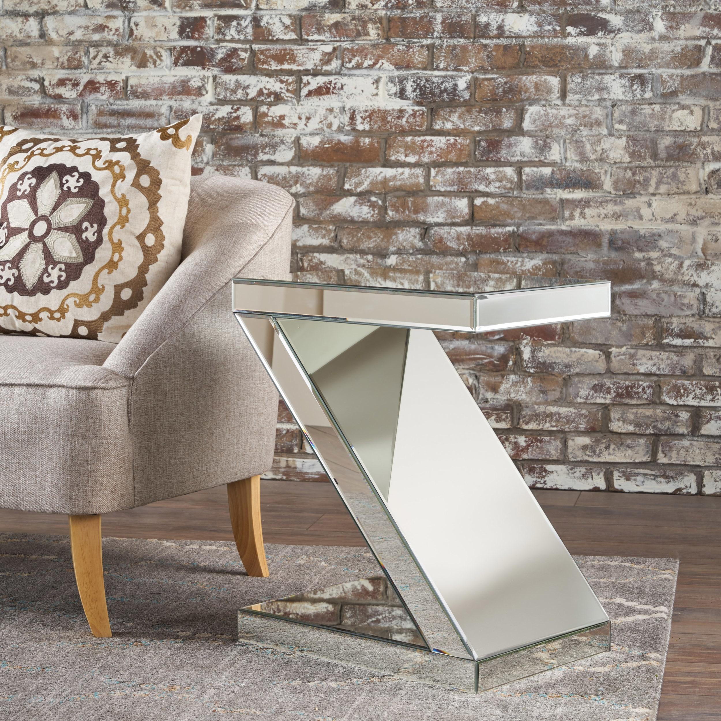 Adu Mirrored Z Shaped Side Table (3)