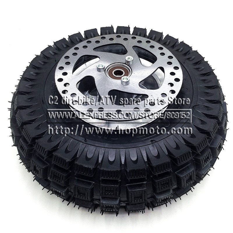 3.00-4 Electric Scooter Front Wheel QIND tyre Alloy Rim hub and inner tube wheels 140MM Brake Disc Plate Gas scooter bike 14 inch front wheel rotating disc teeth open file 100mm axis length 140mm us tsui kole bike rim electric bike wheel bzo004