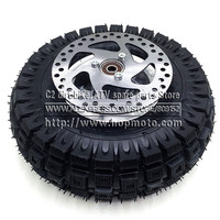 3.00 4 Electric Scooter Front Wheel tyre Alloy Rim hub and inner tube wheels 140MM Brake Disc Plate Gas scooter bike