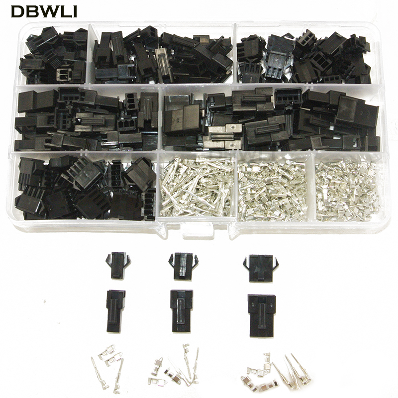 SM2.54 Kits 480pcs  20 Sets Kit In Box 2p 3p 4p  2.54mm Pitch Female And Male Header Connectors Adaptor