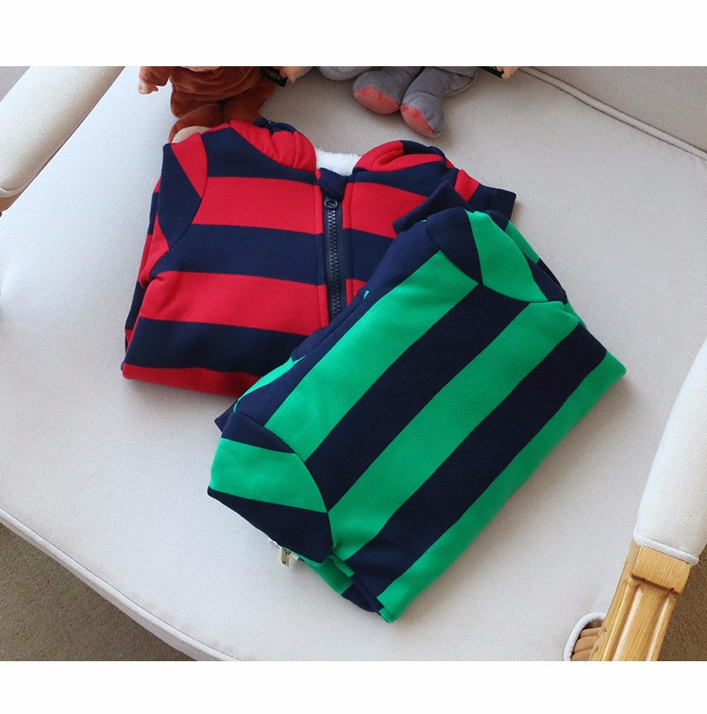 Baby girls boys winter striped rompers (3)
