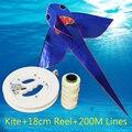 Frete grátis alta qualidade voando tubarão pipa com linha de pipa pega tecido ripstop crianças pipas fábrica pipas voadores umbrella hot