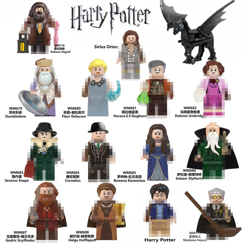 Toys Figures Model Building-Blocks Dobby Dumbledore Sirius Orion Hermione Beasts Fantastic