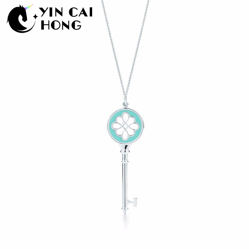 NEW Charm Gift 925 Sterling Silver Blue TIFF Attractive Elegance Temperament Necklace World JewelryNEW Charm Gift 925 Sterling Silver Blue TIFF Attractive Elegance Temperament Necklace World Jewelry