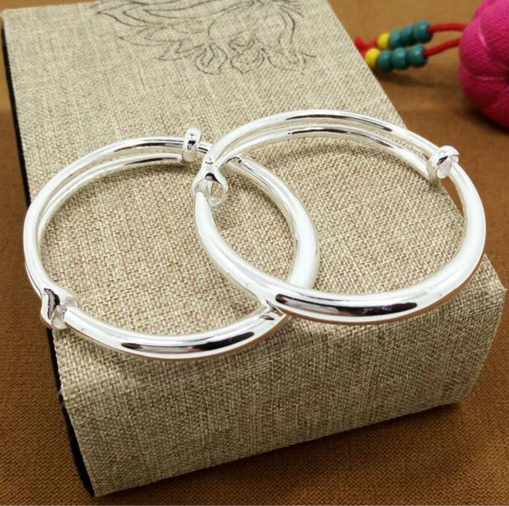 Hot 925 sterling silver fashion, male and female baby gift bracelet simple high-end fashion bracelet silver