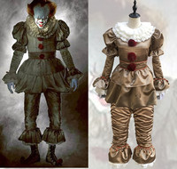 Halloween Movie Stephen King IT The Clown Pennywise Halloween Cosplay Costume Fancy Outfit S XXXL