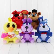 5 style 30cm Five Nights at Freddy's Plush Bonnie Freddy Foxy Clown BB Boy Plush Toy Stuffed Soft Doll Free shipping