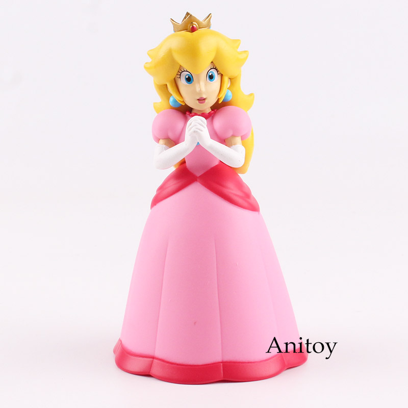 Super Mario Bros Figures Princess Peach Action Figure PVC Collectible Model Toy for Kids Gift 14.5cm 5 14cm super mario luigi collection model pvc action figures toy bobble head car ornament cartoon kids toy action figure model