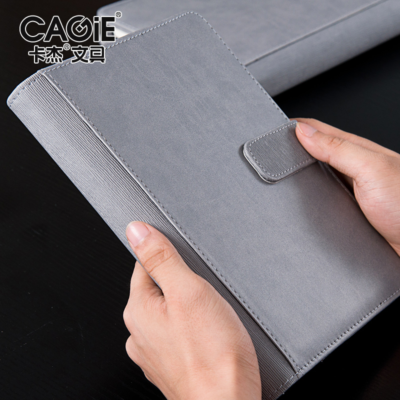 CAGIE Business Spiral A5 Notebooks Creative Vintage Office Filofax Planner Notebook Pu Leather notebook bloco de notas 2016 new arrive a5 a6 pu leather planner snap notebook with notebooks writing pads office