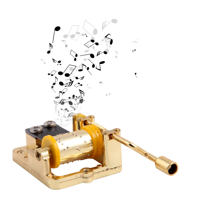 1pcs Wedding Birthdays Gift 18 Tones Mechanical Music Box DIY Music Box Movement Play Set 6 Melody Hand Crank
