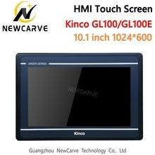 Kinco gl100 gl100e hmi tela sensível ao toque 10.1 Polegada 1024*600 ethernet usb host nova interface de máquina humana rs232 rs422 rs485 newcarve