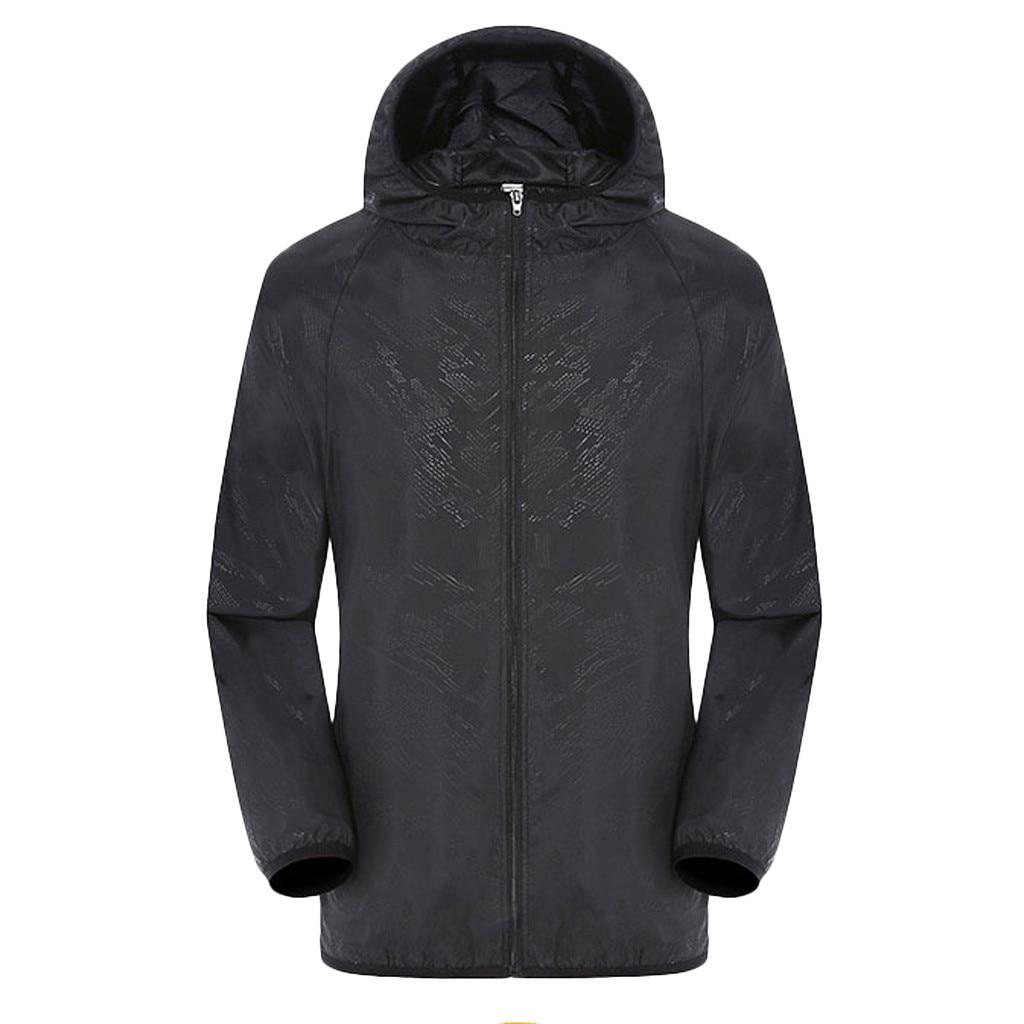 Men's Women Casual Jackets Plus Size Candy Color Windproof Ultra-Light Rainproof Windbreaker Hooded Coat Jackets 15